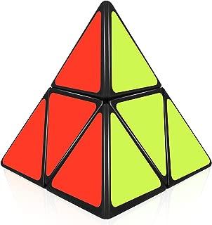 D-FantiX ShengShou Pyramorphix 2x2 Speed Cube Pyramid 2x2x2 Puzzle Cube Toy Black