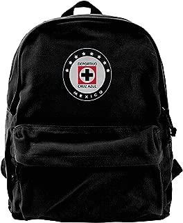 Cruz Azul Club DE Futbol Mexico Soccer Travel Hiking Backpack Fashion Bookbag, Black