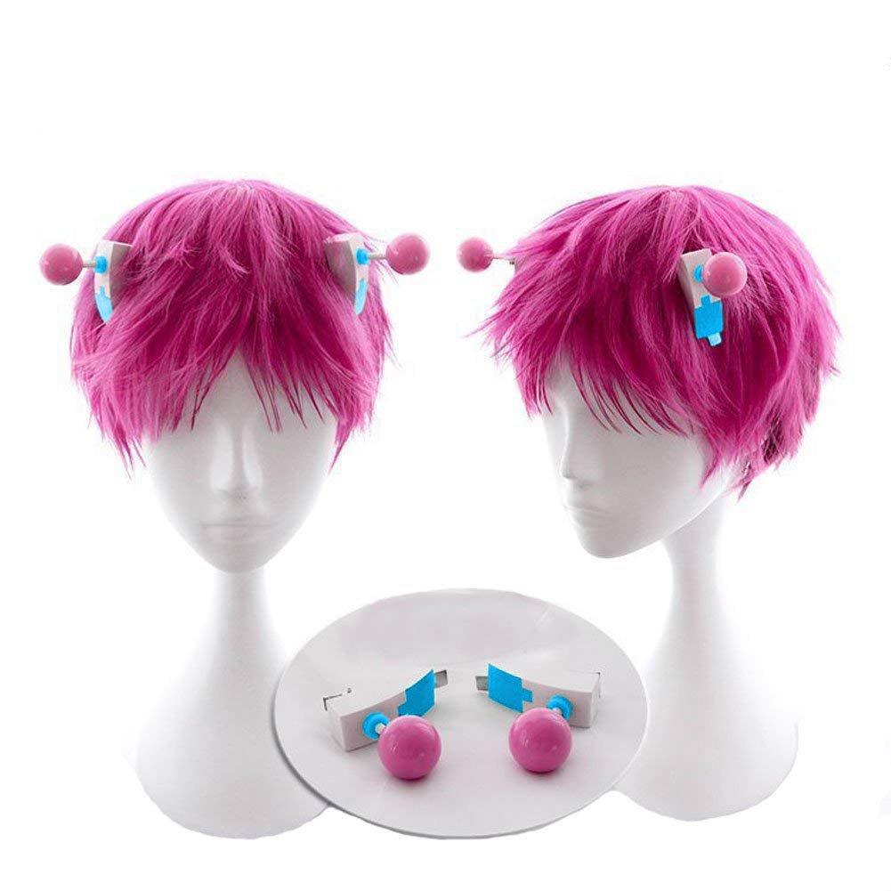 Saiki Wig Cosplay Pink Short Hair Houston Mall Costume Acc Halloween Life K.2 Recommendation