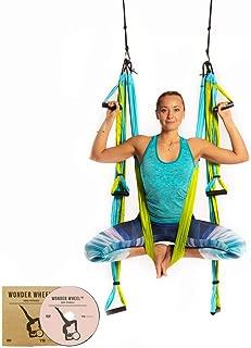 YOGABODY Yoga Trapeze (Oficial) con DVD, Color Azul/Turquesa
