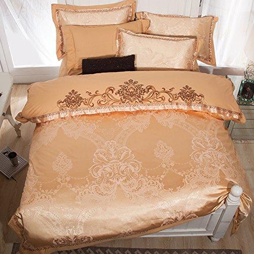 Textile à la maison de style européen lit en satin 4 ensembles de coton coton 1,8 m couette double
