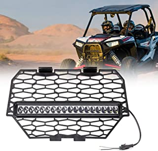 RZR Grill with Light Front Bumper Grille for 2014 2015 2016 2017 Polaris RZR 900 Replace OEM 5439788-2