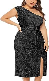 Women Sequin Maxi Dress Plus Size Sparkly Ruched Split Slit Party Evening Bandage Stretchy Bodycon Dresses