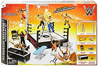WWE Wrestling Superstar Rings Ringside Mayhem Accessory Set
