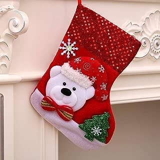 Mini Christmas Stockings Bulk Christmas Ornament Hanging Candy Gift Bag Box Snowflake Santa Snowman Stocking Decorations Personalized Xmas Stockings Set for Xmas Tree Holiday Family Party Favors