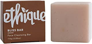Ethique Eco-Friendly Face Cleansing Bar for Normal-Dry Skin, Bliss Bar - Sustainable Natural Facial Cleanser, Soap Free, Plastic Free, Vegan, Plant Based, 100% Compostable and Zero Waste, 4.23oz