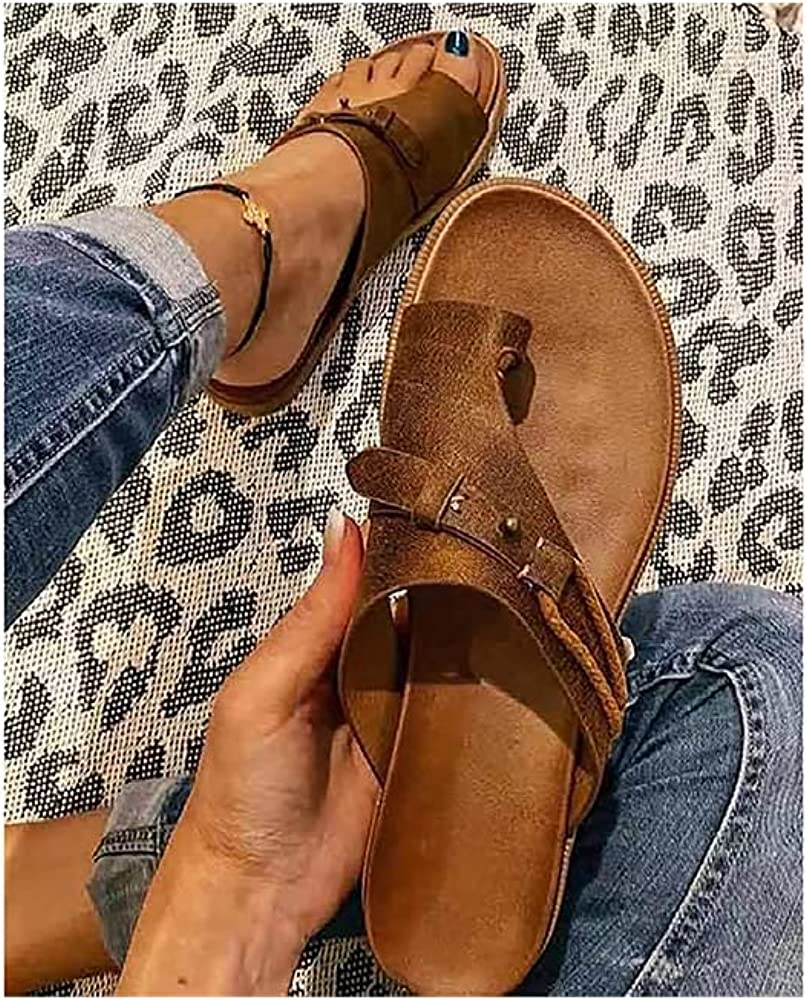 Some reservation New Sandals for Women Women's Ring Correction Leather Special price Orthopedic