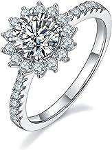 1.00カラット 14号 モアサナイト モアッサナイト 女王陛下のダイヤモンド プラチナ仕上 シルバー925 リング 人気 金属アレルギー対応 ジュエリー レディース