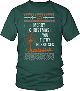Merry Xmas You Filthy Hobbitses Lord of The Rings Ugly Christmas Sweater Tshirt