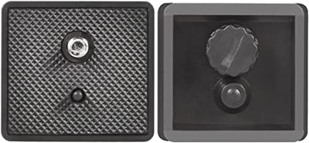 Black Acouto 1//4 Screw Anti-Skid Quick Release Plate 50mm Universal Camera Photography Accessory