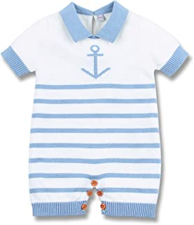 mimixiong Nautical Baby Boy Romper Toddler Navy Bodysuit Clothing