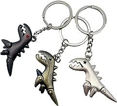伊豆シャボテン本舗 恐竜 かわいい メタルキーホルダー 3個セット シンプル 恐竜好き コレクション
