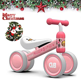 Baby Balance Bike Bicycle Children Toddler Bike Baby Bike Trike 4 Wheels Kids Balance Bike Toddler Bike 10-20 Months for 1 Year Old No-Pedal Baby Bike First Birthday Gift