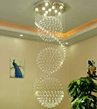 Chandelier LED 3 Brightness Clear K9 Crystal Ceiling Lights Fixture Lamps Chandeliers Pendant Lights Lighting For Stairs L...