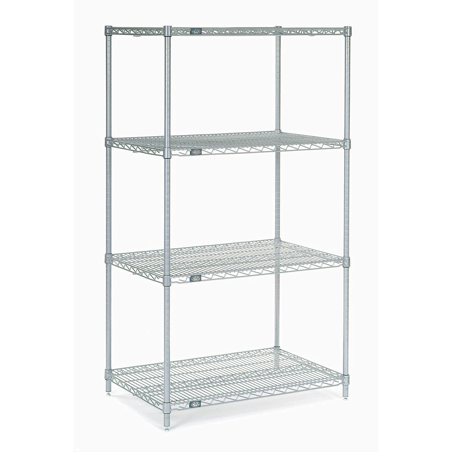 Nexel Adjustable Wire trust Shelving Unit Listed NSF Tier Commerci 4 Max 72% OFF