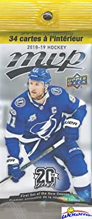 2018/19 Upper Deck MVP NHL Hockey Awesome Factory Sealed JUMBO FAT PACK with 34 Cards including One High Series Short Print! Brand New 2018/19 Hockey Collection Starts Here! WOWZZER!