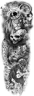 CQHUI Waterdichte Tijdelijke Tattoo Sticker Totem Geometrische Volledige Arm Grote Mouwen Tatoo Fake Tatto Flash Tatoeages...