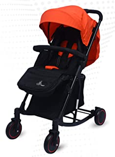 R for Rabbit Rock N Roll - The Rocking Baby Stroller and Pram for Baby/Kids with Easy Compact Folding(Red Black)