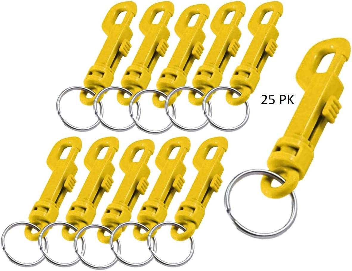 Lucky Line Plastic Key Clip Key Chain Red 25 Per Bag 41570
