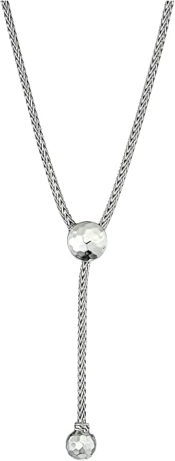 Classic Chain Hammered Drop Necklace