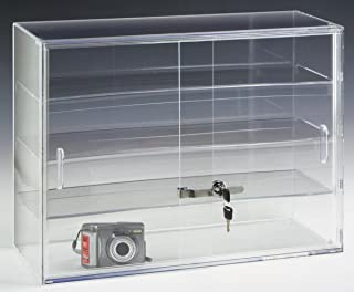Displays2go 22 by 16-Inch Countertop Display Case with 3 Shelves