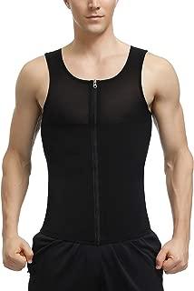 DANALA Men's Waist Trainer Vest for Weight Loss Compression Slimming Body Shaper Sauna Tank Top with Zipper