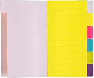 Sticky Notes - 6-Pack Divider Sticker Notepad with Index Tabs, 360 Dotted Paper Notes, Bookmark Stickers, Color Coded for Students, Office, Home Use, 6 Colors 3 x 5 inches