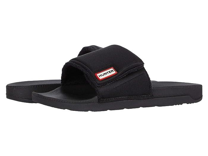 Hunter  Original Adjustable Slide (Black 2) Mens Slide Shoes