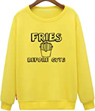 CINFUN Women's Fries Before Guys Funny Cute Sweatshirt