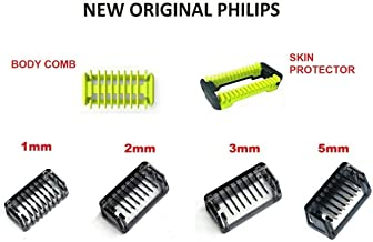 All Combs (1 2 3 5 mm) Trimmer Clipper Body Skin For Philips OneBlade One Blade Shaver QP2510 QP2520 QP2521 QP2522 QP2523 QP2530 QP2531 QP2620 QP2630 QP6505 QP6510 QP6520 QP6620