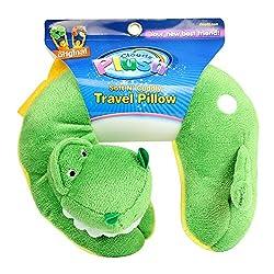 1. Cloudz Plush Animal Neck T-Rex Dinosaur Pillow