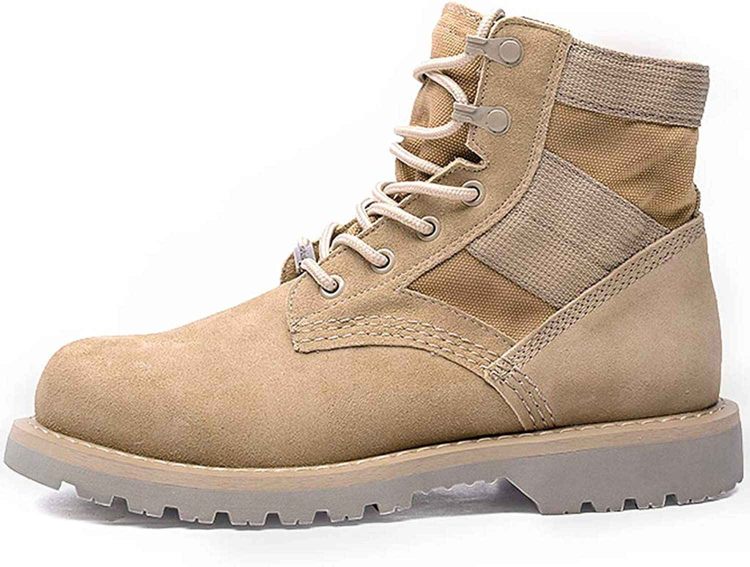 Martin boots, men's leather mid-boots - desert tooling tide men's boots - wild military boots