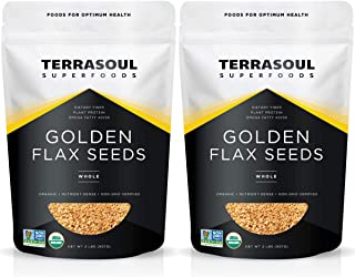 Terrasoul Superfoods Organic Golden Flax Seeds, 4 Lbs (2 Pack) - Fiber | Protein | Omega Fats…