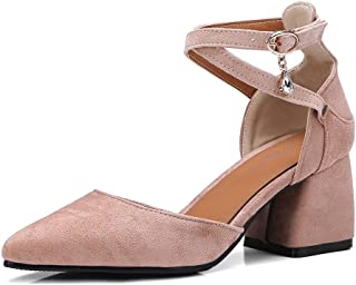8120b08e512de OALEEN Sandales Elégante Femme Talon Moyen Lanière Croisée Chaussures  Escarpins Soirée