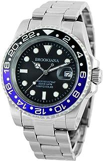 ブルッキアーナ BROOKIANA BA2606 ダイバー メンズ 時計 腕時計 ソーラー クォーツ 防水 (ブルー)