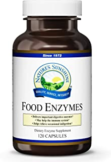 Nature's Sunshine Food Enzymes, 120 Capsules | Digestive Enzymes with Betaine HCL Support The Digestive System and Provide Occasional Indigestion Relief