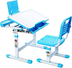Adjustable Kids Study Desk and Chair Set,Educational Study Table For Kids