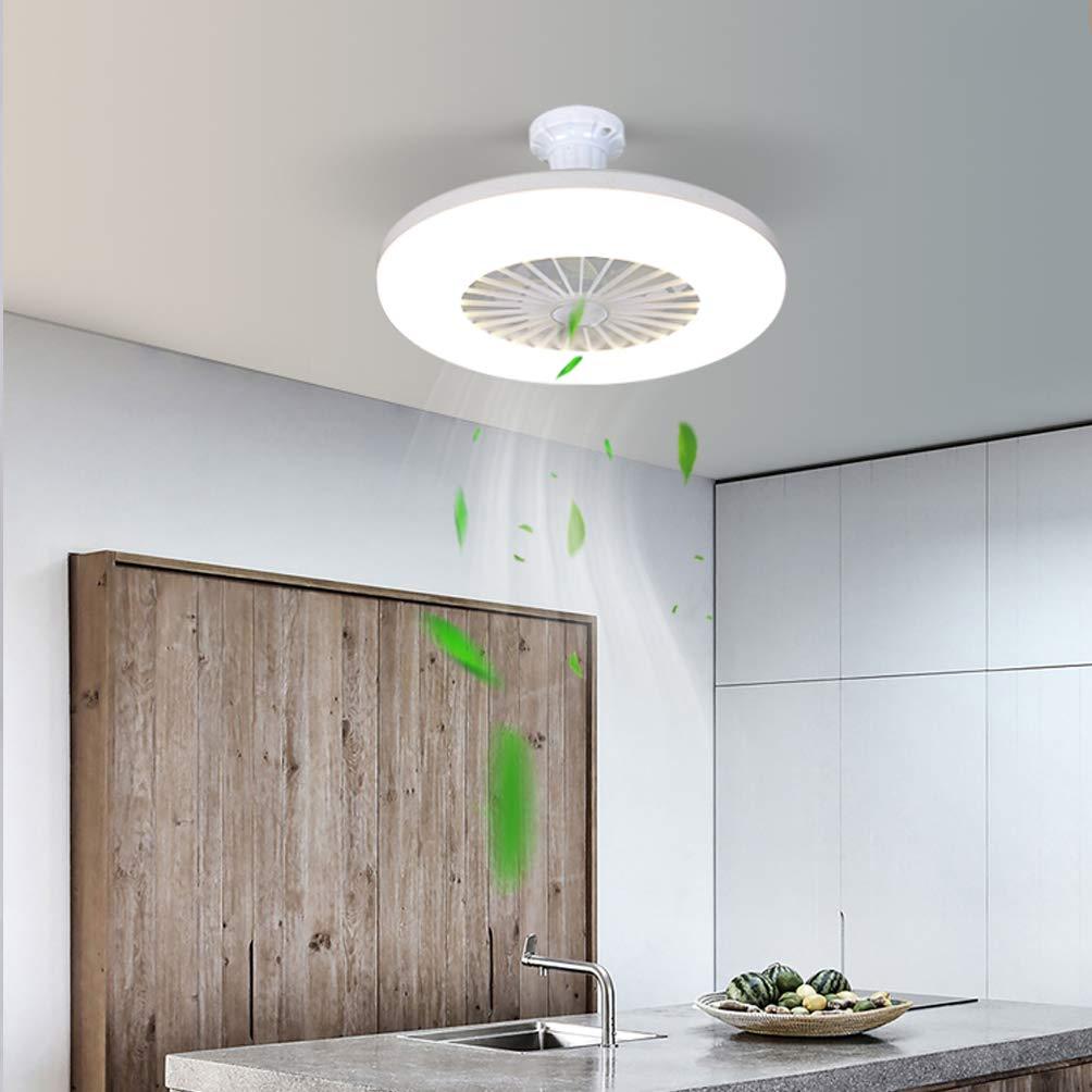 ACHNC Ventilador de Techo Pequeño Con Luz, 36W Moderna Simple LED ...