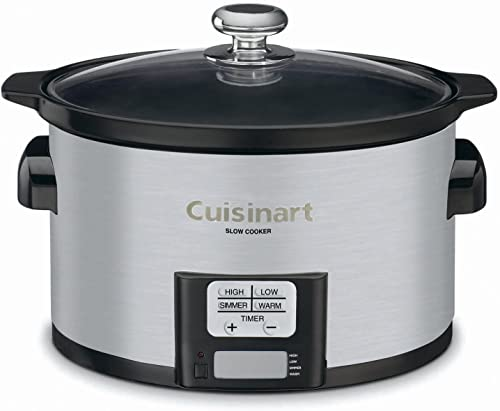 discount Cuisinart PSC-350 3-1/2-Quart Programmable Slow Cooker, Silver, 9-1/2 2021 in H x 9.1 in W x 12.67 in new arrival L online