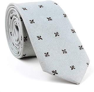 Novelty Ties Skinny Neckties for Men Linen Cotton Floral Designer Wedding Ties for Groomsmen