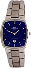 Oniss #ON299 Men's Blue Dial Casual Analog Stainless Steel Watch with Date Display