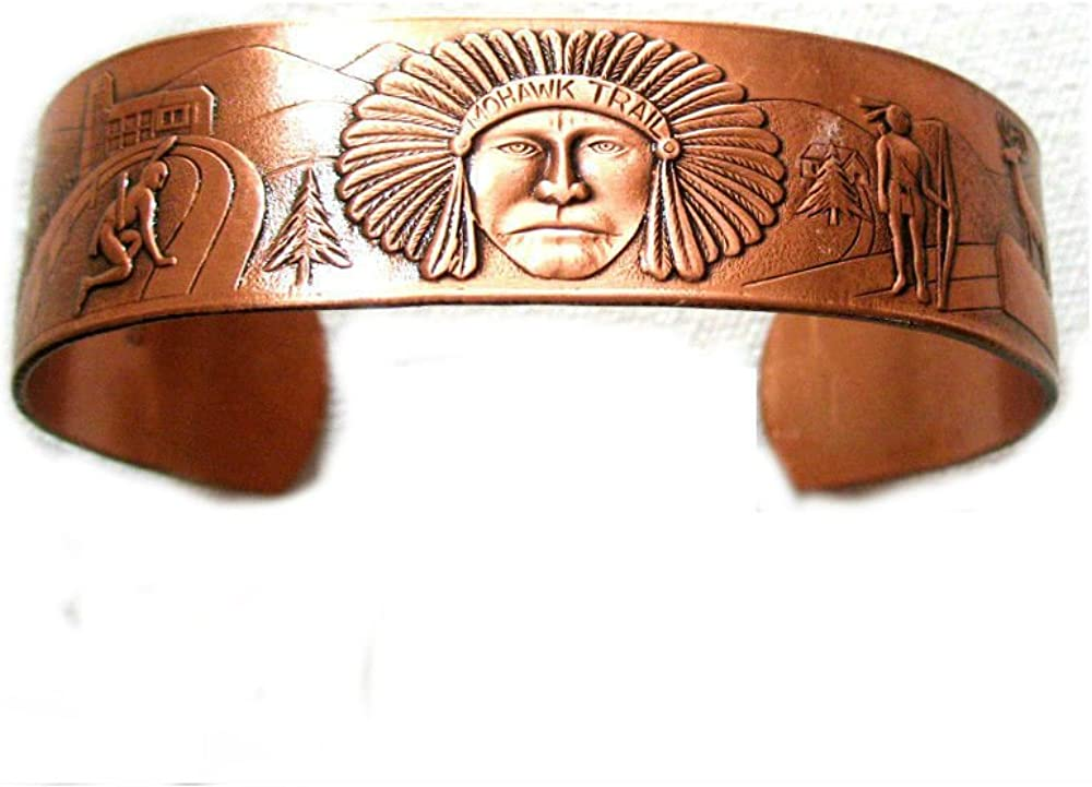 Solid Copper Cuff Outlet ☆ Free Shipping Bracelet with Tip Chief American Indian Native Recommended