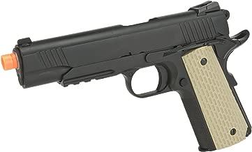 Evike - WE-USA 1911 Desert Warrior Railed Frame/Threaded tip Airsoft Gas Blowback Pistol - (33153)