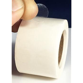 60 millimetri rotolo di 500pcs. 500 etichette autoadesive trasparenti//trasparente rotonda tenuta etichette//Misura 6 cm di diametro