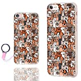ChiChiC iPhone 8 Case Cute,iPhone 7 Case for Girls, [Orignal Series] Anti-Scratch Slim Flexible Soft TPU Rubber Cases Cover for Apple iPhone 7 8 4.7 Inch, Cute Cartoon Animal Brown Dogs and Cats pet