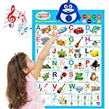 LVAP Bilingual Talking Poster: Music + ABC + 123s + Eng & Spanish + Songs - Perfect Educational Toys for 2 Year olds and Learning Toys for 3 Year olds. (Alphabet)
