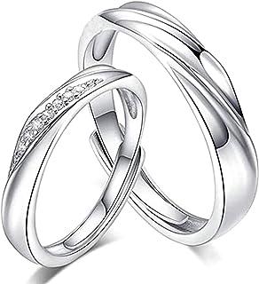 تينون هدية الزفاف، قطعتان أحبك خواتم إلى الأبد للنساء الرجال، خاتم قابل للتعديل للزوجين، خاتم منقوش، زفاف الخطوبة عيد ميلا...