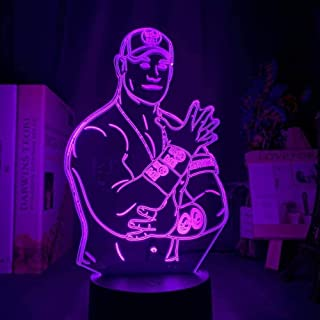 YOUPING 3D Illusion Lamp Led Night Light John Felix Anthony Cena Jr. Figure for Office Bedroom Decor Touch Sensor Colorful...