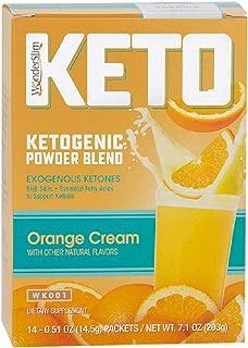 WonderSlim KETO Ketogenic Powder Blend Drink Mix (Orange Cream) - Exogenous Ketones (BHB) and Omega Fats Supplement for a Keto Diet (14 Count)