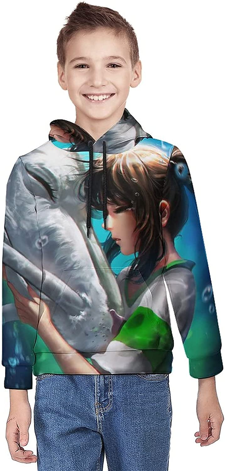 LIAM HENDERSON Spirited Away Teen Hooded Sweatshirt, Fashion Pullover Hoodie Sweater with Pockets for Boys Girls